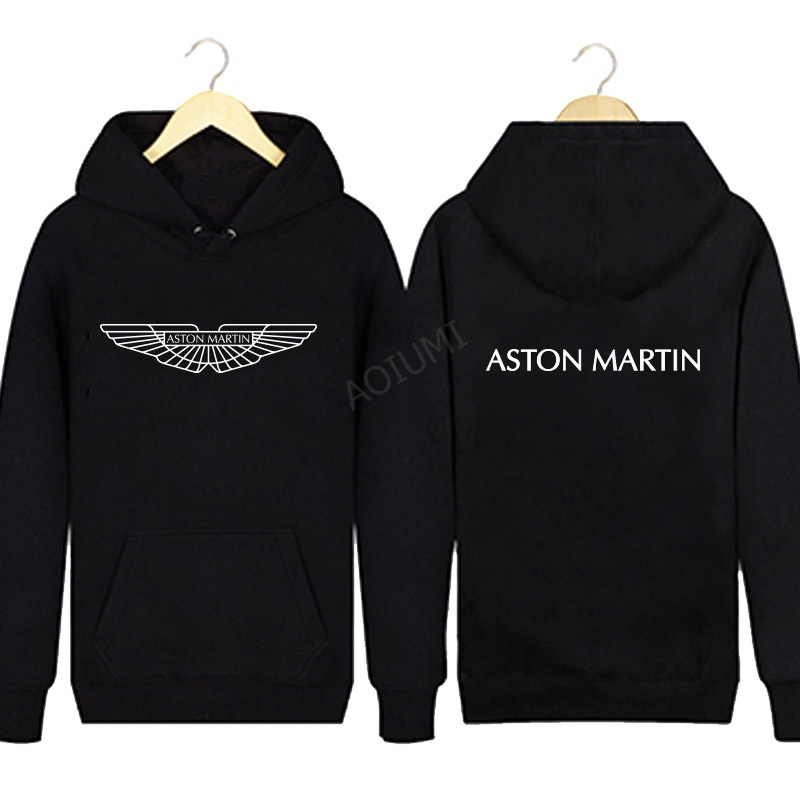 Winter Men Solid Colour Aston Marting Sweatshirt Winter Hoodies Coats Hoodied Casual Pullover Jacket Clothes Men Tops