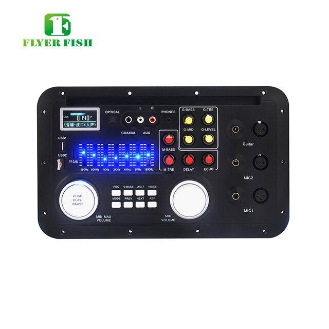 Monitory Audio AAC LCD moduł MP3 FLAC USB TF mikrofon basowy XLR liryczne mieszanie spółgłoska Bluetooth AUX TRS telefon Decording Borad