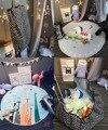 Высокое качество Мультфильм Хлопок carpet Круглый Дети Играют Игры Мат 150 см Детские Игрушки Хранения Сумки Организатор Одеяло Бесплатный доставка