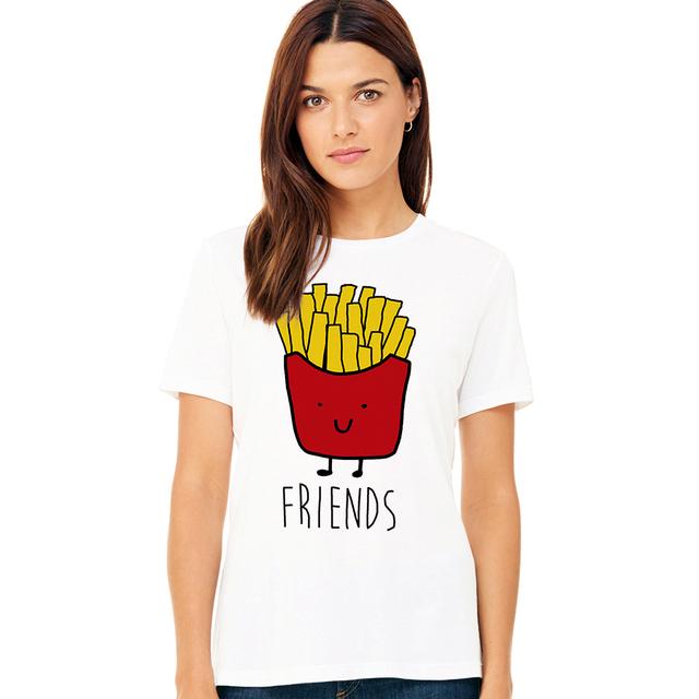 Burger and Fries Matching Bff Best Friend T-Shirt