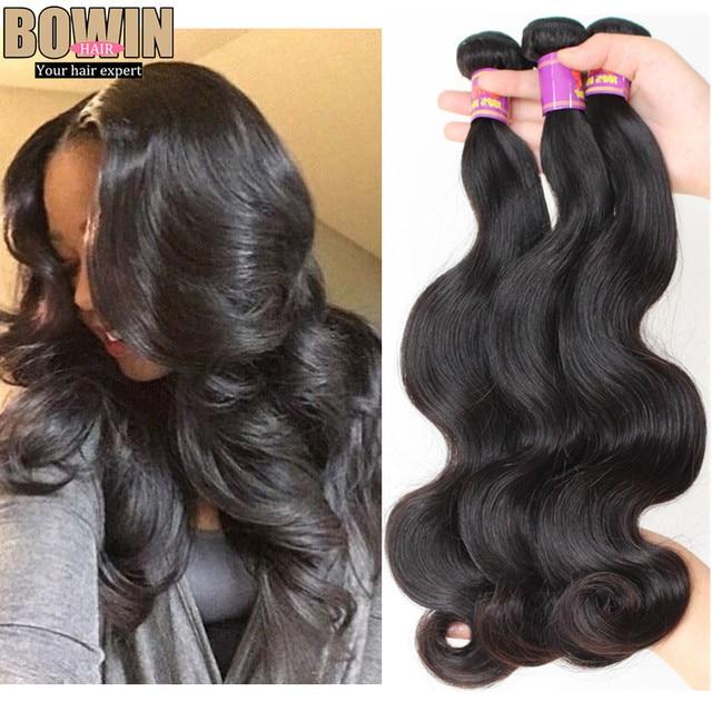 Unprocessed 7A Peruvian Virgin Hair Body Wave 100% Virgin Hair Weaves 3pcs lot Natural Black Color Peruvian Hair Bundles