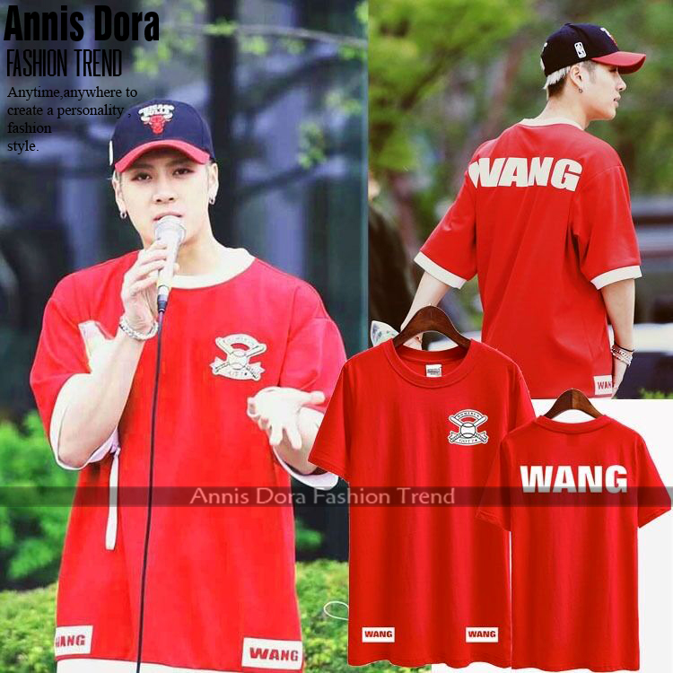 US $10 0 |GOT7 HOMERUN UVIN JACKSON Wang Red+Blue Same Style Short sleeved  T shirt-in T-Shirts from Men's Clothing on Aliexpress com | Alibaba Group