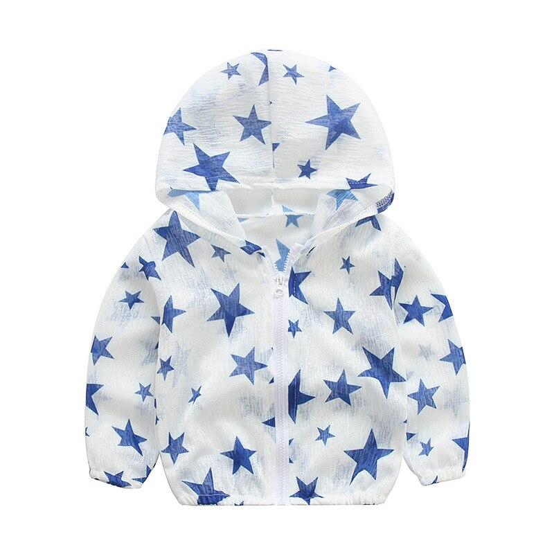От 2 до 6 лет для маленьких девочек и мальчиков куртки с капюшоном солнце-доказательство детская одежда с рисунком пальто для девочек 2018 Весн...