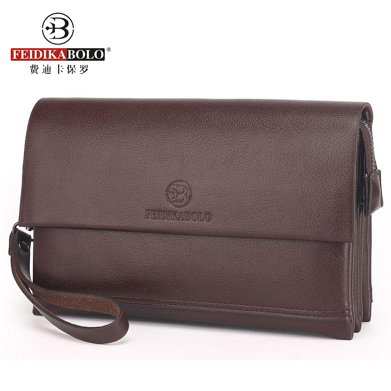 Men's Leather Clutch Handy Bags Business Wallet Men Luxury Brand Male Large Purses Passport Cover Portemonne Portefeuille Homme 2016 famous brand new men business brown black clutch wallets bags male real leather high capacity long wallet purses handy bags