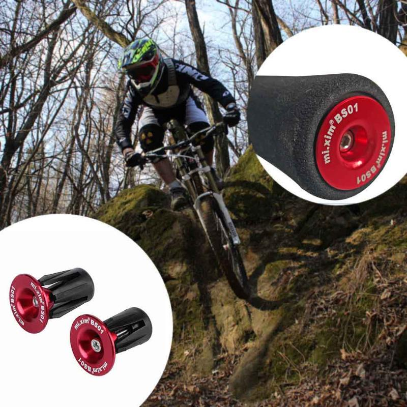 2 Pairs Handlebar End Plugs Bar Grip Cap for MTB Road Mountain Bike Bicycle