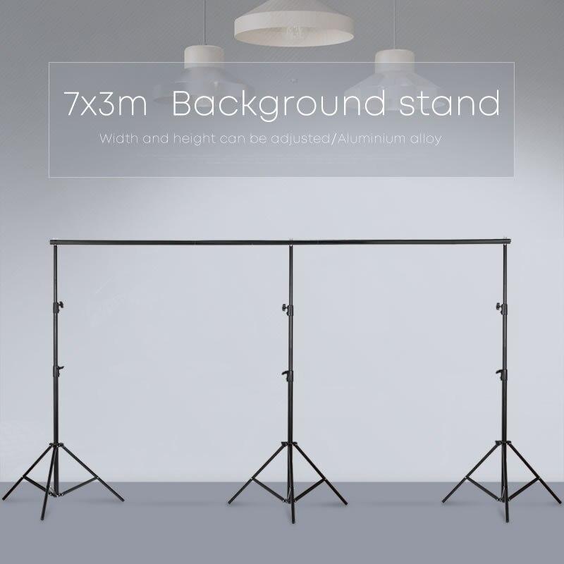 3 m x 7 m/10ftx23ft Pro Photographie Photo Décors support de fond Système Stands Pour Photo Vidéo Studio + sac de transport
