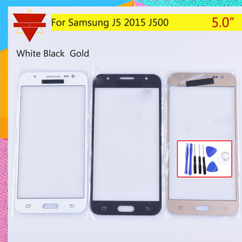 J500 TouchScreen For Samsung Galaxy J5 2015 J500 J500F J500FN J500M J500H SM-J500F Touch Screen Front Panel Glass Lens Outer LCD image