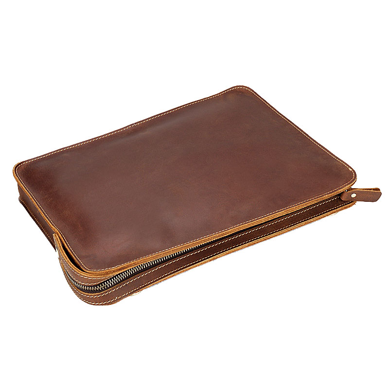 The Folder For Documents From Genuine Leather File Holder Nature Leather Folder Document Case School Stationery