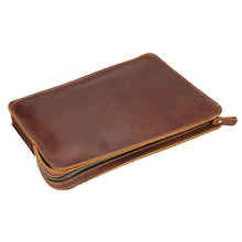 The Folder for Documents from Genuine Leather File Holder Nature Leather Folder Document Case School Stationery Joy Corner