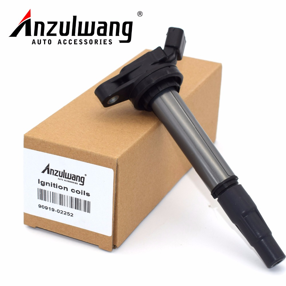 ANZULWANG 4 pcs 90919-C2003 90919-C2005 90919-02252 90919-02258 New Ignition Coil for Toyota Corolla Matrix Prius image