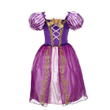 Rapunzel Girl Dress Summer 2016 Snow White Princess Dress Aurora Girls Dresses Kids Party Halloween Costume Clothes