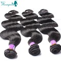 "Cheap Brazilian Virgin Hair Extension Body Wave 3pcs Lot Unprocessed Human Hair Weave Mixed Length 8""-28""Natural Black"