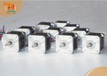 цена на 10 PCS Nema 17 Stepper Motor 70OZ-IN,2.5A CNC Cutting and Mill of wantai