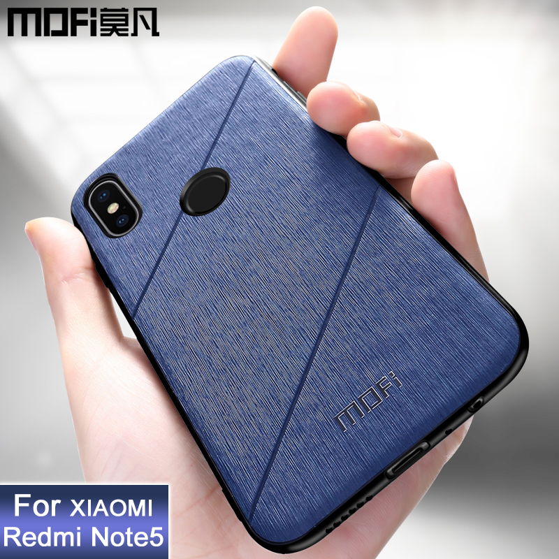 MOFi original xiaomi redmi note 5 case global version back cover protective phone case coque luxury business redmi note 5 case plywood