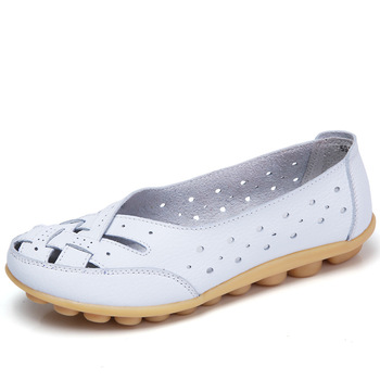 Women Shoes 2018 New Arrival Flat Hollow Loafer Ballerina Flats Casual Female Plus Size 44