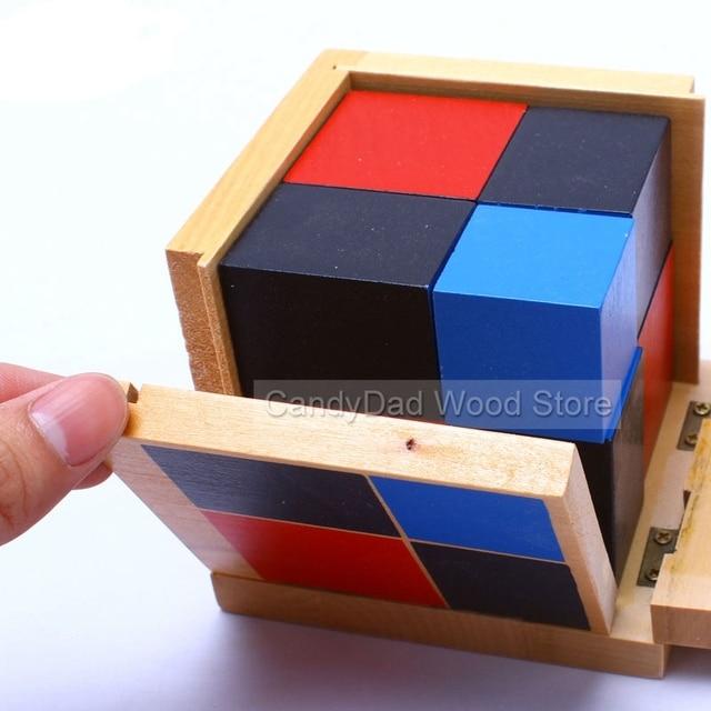 montessori toys Algebraic Binomial Cube Early Childhood Educational Toys For Children Preschool Math Toys Brinquedos Juguete
