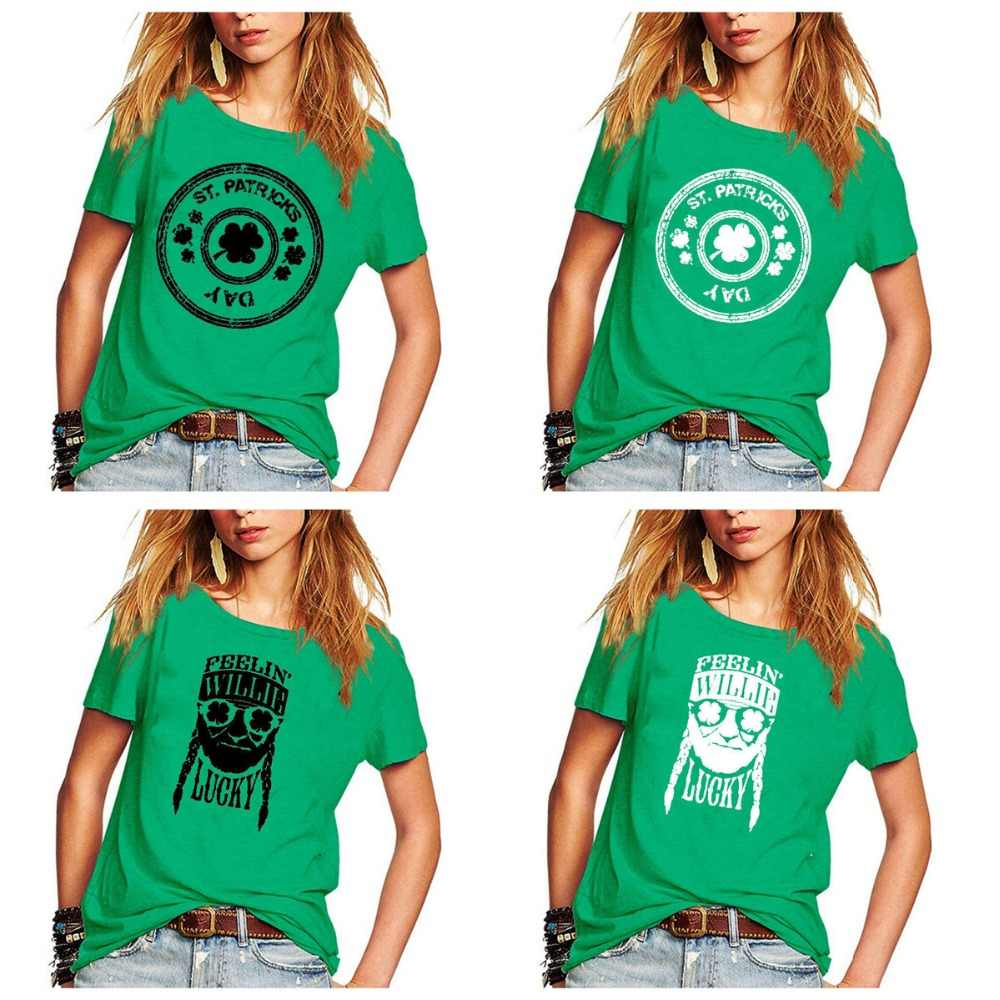 519af48c5 let's get shamrocked St pattys day shirt funny St patricks day tshirt  graphic tees women streetwear