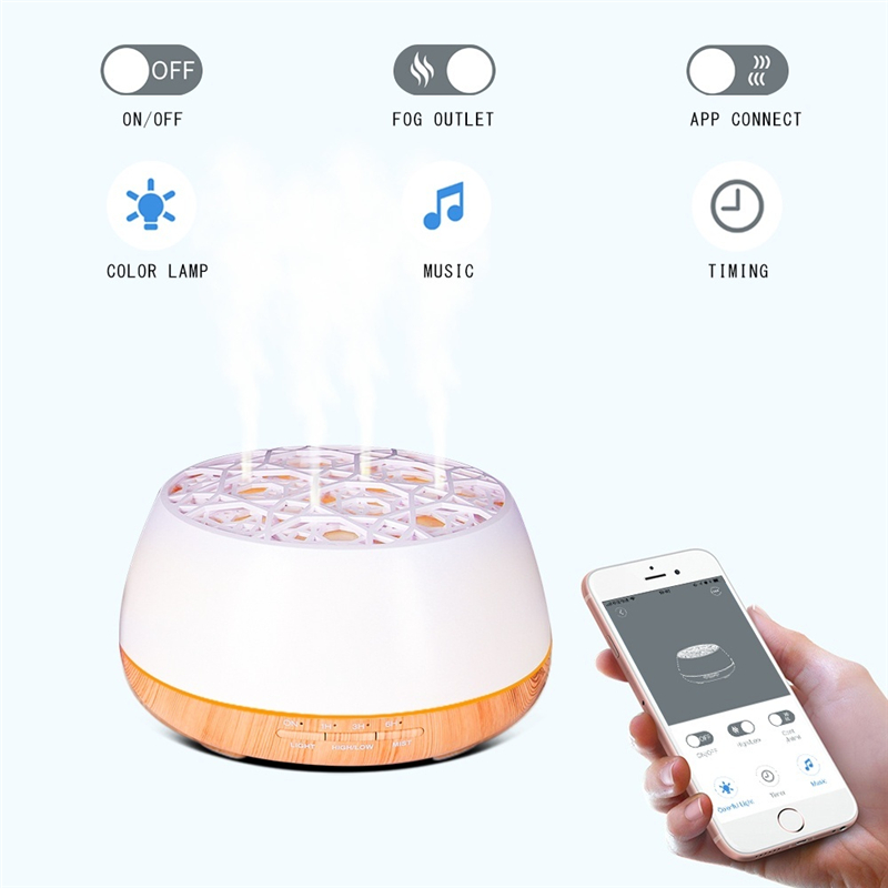 400ml Essential Oil Diffuser Ultrasonic Humidifier with Bluetooth Wireless Music Air Aroma Humidifier perfect for Home Office in Car Air Purifiers from Automobiles Motorcycles