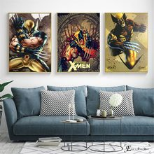 Retro Xmen Wolverine Artwork Vintage Canvas Prints Modern Painting Posters Wall Art Pictures For Living Room Decoration No Frame(China)