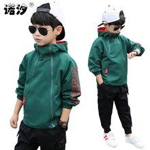 Chłopcy odzież dziecięca wiosna solidna kurtka dla nastoletnich chłopców płaszcz na co dzień dziecko topy 3 111 Y dzieci aktywna kurtka odzież dla dzieci
