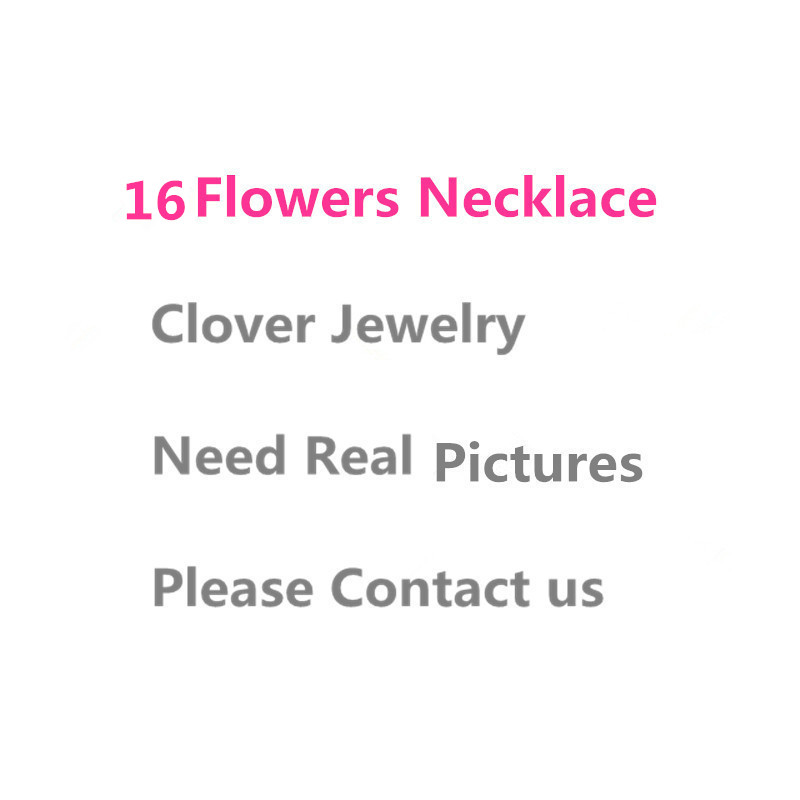 Brand 925 Sterling Silver Four Leaf Clover Flower Jewelry For Women Necklace 16 mix Mother Shell Pearl Pendant trendy four leaf clover shape pendant necklace for women