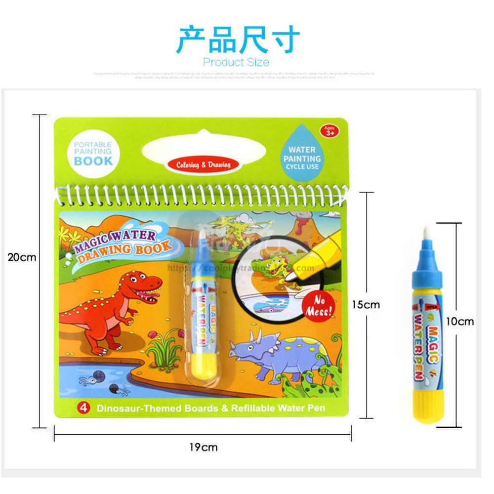 Air Menggambar Buku Hadiah Ulang Tahun Mainan Anak-anak Pembelajaran Pendidikan Buku Mewarnai Pamflet Magic Doodle Lukisan Papan