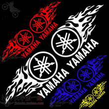 2 PCS professional waterproof motorcycle sticker for yamaha decal motorbike Accessories fire decorate moto flame colorful parts
