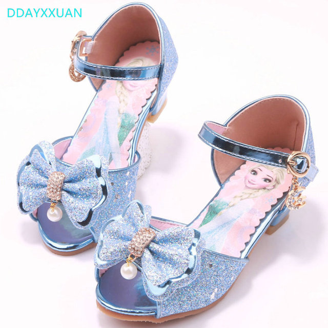 d860720a9 Children Princess Sandals 2018 New Summer Kids Girls Wedding Shoes High  Heels Dress Shoes Party Shoes For Girls sandal pink Blue