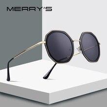 MERRY S Mulheres PROJETO Templo Armação De Metal Óculos de Sol para As  Mulheres Polarizada óculos de Sol Polígono UV400 Proteção. e9d514c26b