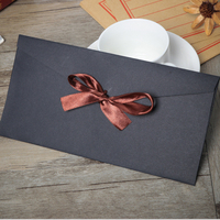 50pcs Lot Vintage Black Craft Blank Envelopes Window Envelopes Wedding Invitation Envelope DIY Multifunction Gift Envelopes