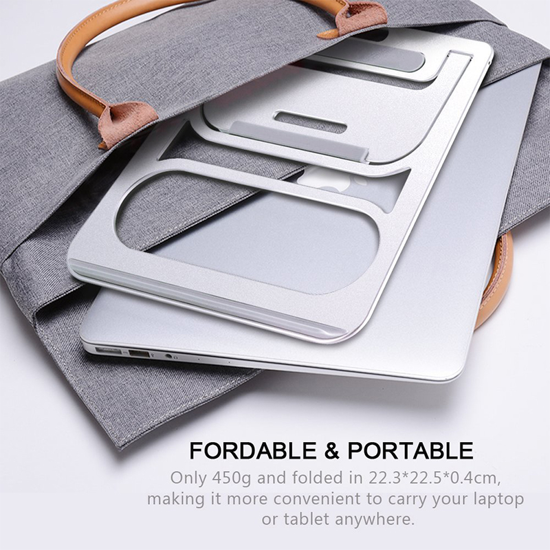 Portable Aluminum Laptop Stand Holder Dock Desk Pad For MacBook Pro Air Tablet Notebook Metal Laptop Cooling Pad Cooler Stand