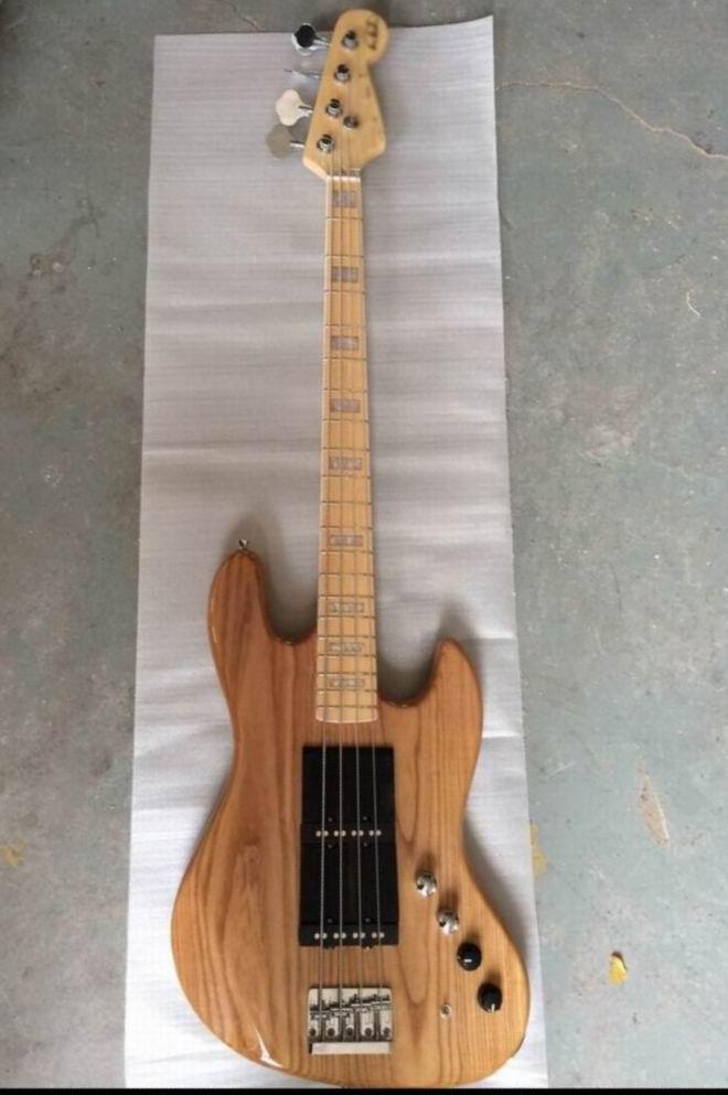New Arrival Jazz Bass Electric Bass Guitar 4 string bass Natural Wooden 140605 free shipping fdr 4string jazz bass electric bass guitar 4 string bass in vintage sunburst 140605