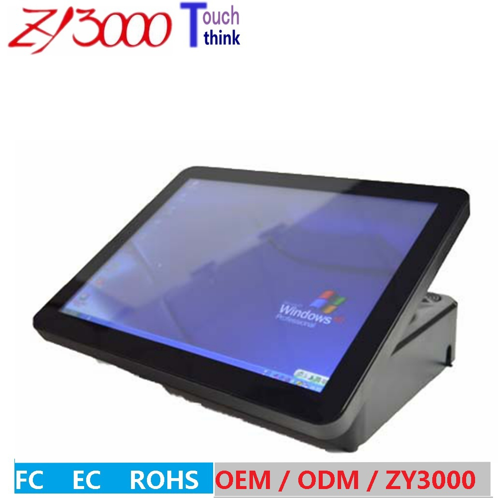 hot sale 15 inch j1900 4G ddr3 hdd Msata 64 G SSD WIFI capacitance multi all in one pos terminal / pos system image