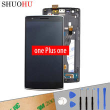 Tested LCD Screen 5.5 inch For One Plus one 1+ LCD Display Touch Digitizer Screen Assembly Free Tools A0001 1920×1080 With Frame