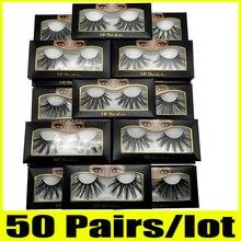 20/30/50 คู่ 25 มม.ขนตาขายส่ง 25 มม.ขนตาปลอมหนา Strip 25 มม.3D Mink แต่งหน้า Dramatic ยาว Mink eyelashes
