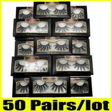 20/30/50 Pairs 25mm Lashes Wholesale 25 mm False Eyelashes Thick Strip 25mm 3D Mink Lashes Makeup Dramatic Long Mink eyelashes