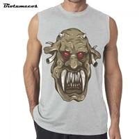 Brand Gyms Clothing Fitness Men Tank Tops Horned Monster Fangs Men S Bodybuilding Tanktops Sporting Sleeveless