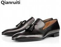 LTTL Brand Fashion Soft Leather Breathable Men S Shoes Slip On Tassel Mocassins Men Loafers Shoes