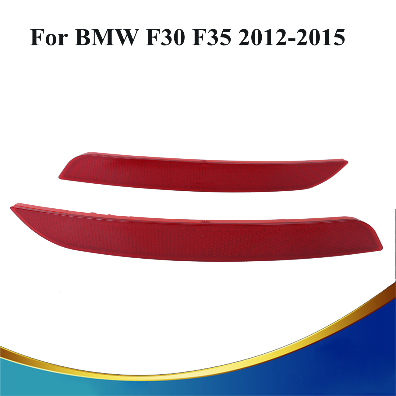 2x Red Red Lens Rear Bumper Reflector Warning Light For BMW F30 F35 328i 320i 335i Auto Car Styling #3099