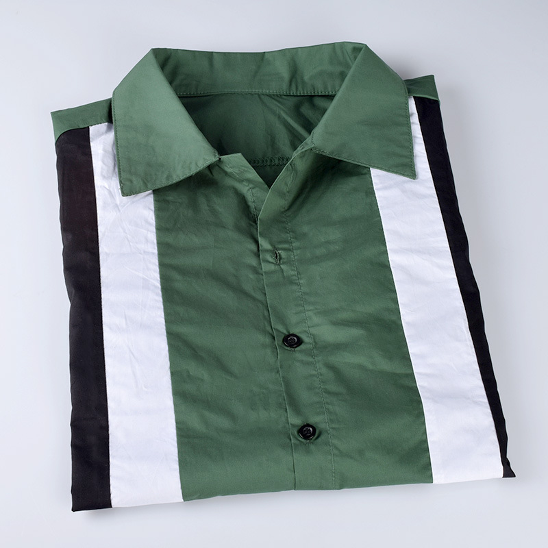 fe90271a27 kpop BTS Bangtan Boys Jin Nanjun same Short Sleeve Dark Green Stripe Shirt  Fashion Korean Men and women Summer Harajuku shirt-in Blouses & Shirts from  ...