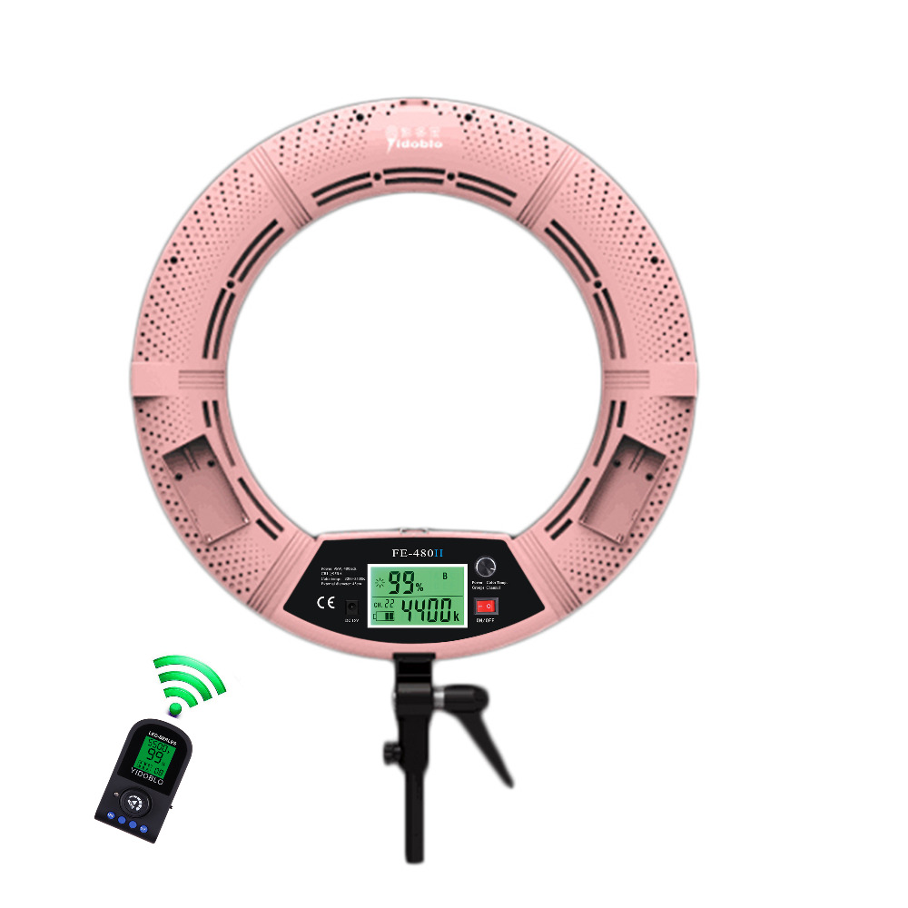 Yidoblo FE-480II Studio Ring Light 480 LED Video Light Lamp LCD - Kamera dan foto - Foto 3