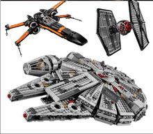2016 new Free shippingStar Wars Millennium Falcon Figure Toys building blocks marvel minifigures Kids Toy Compatible withlegoe