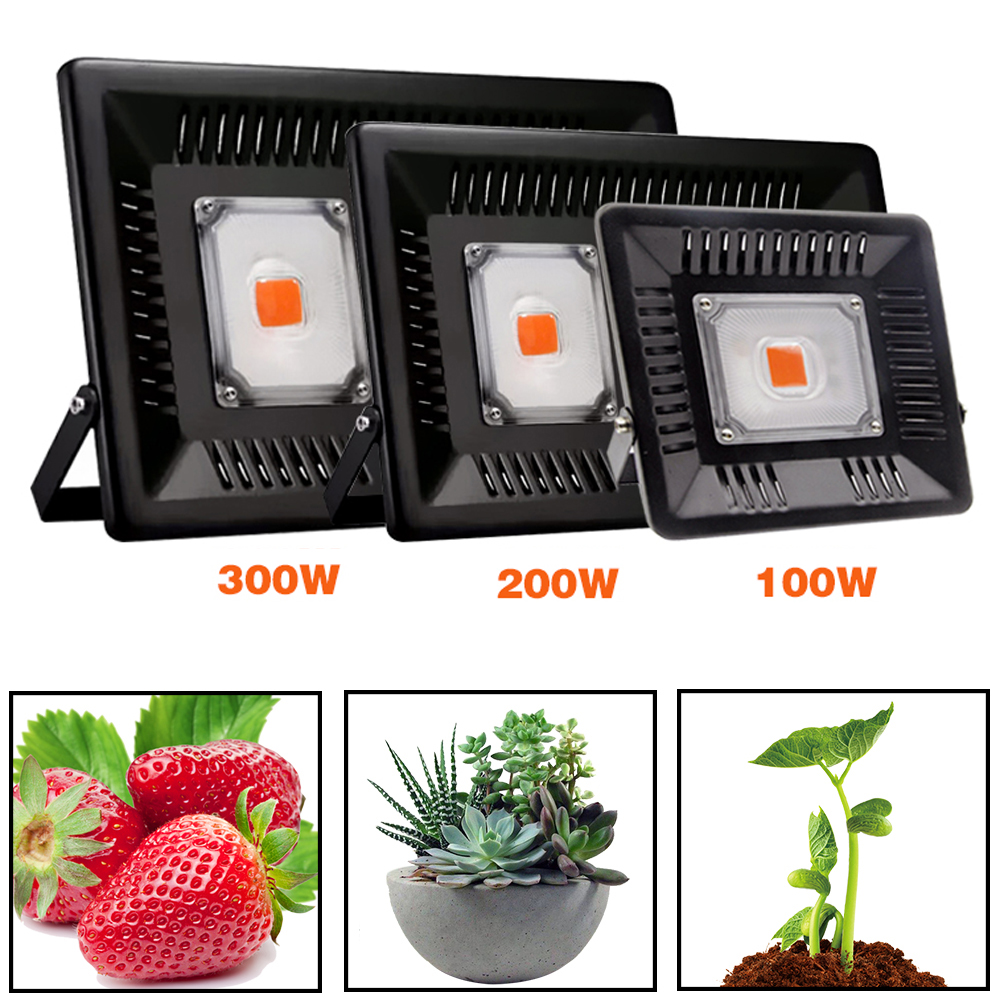 COB Led Grow Light Full Spectrum 100W 200W 300 Waterproof For Vegetable Flower Indoor Hydroponic Greenhouse Plant Lighting