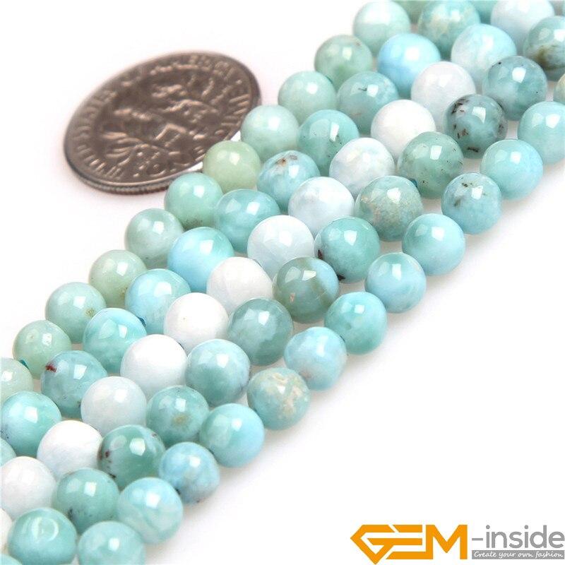 5 мм 7 мм 8 мм 10 мм AAA Класс круглый Blue Ларимар Натуральный камень Бусины DIY Свободные Бусины для изготовления ювелирных изделий оптовая продаж