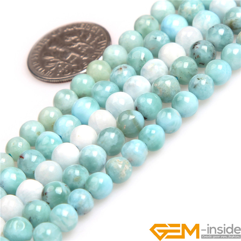 5mm 7mm 8mm 10mm AAA Grade Round Blue Larimar Natural Stone Beads DIY Loose Beads for jewelry making Wholesale ! 8mm 1 set round beads natural stone beads including buddha skull beads elastic string kit beads for jewelry making bracelet diy