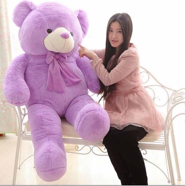 Fragrance Lavender Purple Teddy Bear 160cm Plush Toy,bowtie Bear Hugging Pillow ,birthday Gift Christmas Gift D959