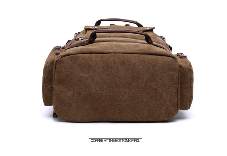 6 Canvas Backpack 15.6'' Laptop Backpacks Men Bagpack Wearproof School Bag for Teenage Male Knapsack Travel Bags Fashion Rucksack