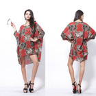 Save 1.75 on Tropical Casual Brand Chiffon Summer Dress Print Quality Fashion Summer Style Vestidos De Festa Women Dress Femininas