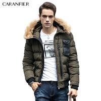 CARANFIER 2016 Winter Jacket Men Fashion Design Brand Parka Men Clothing Zipper Coat Male With Pockets