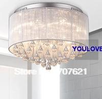 Free Shipping D45cm Modern Romantic Ceiling Lamp Crystal Light Bedroom Living Room Lobby Ceiling Lights Fixture